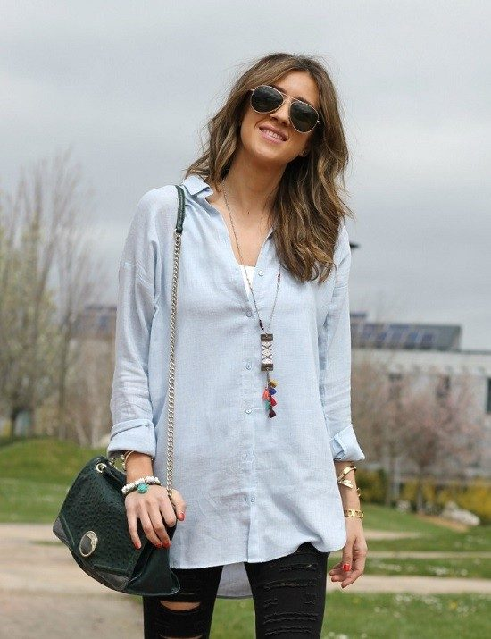 Look&chic - Camisa blue